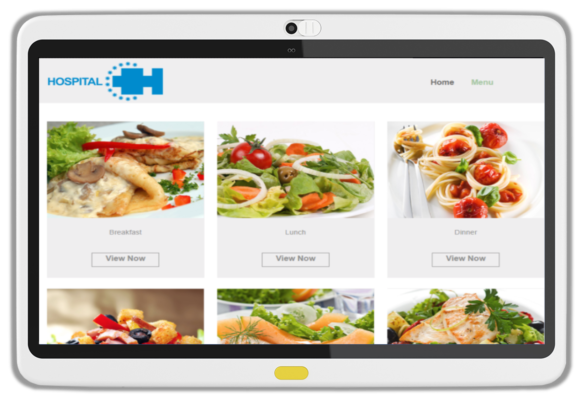 HCI MediaCare offers bedside meal ordering, using a patient's EHR to assure dietary guidelines are followed.