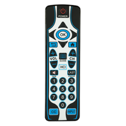 HCI IR Patient Remote Control offers functions for patients to control their in-room hospital TV.
