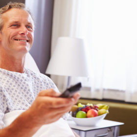 HCI Patient Remote Control allows patients to have control over the func lions on their in-room hospital TV.