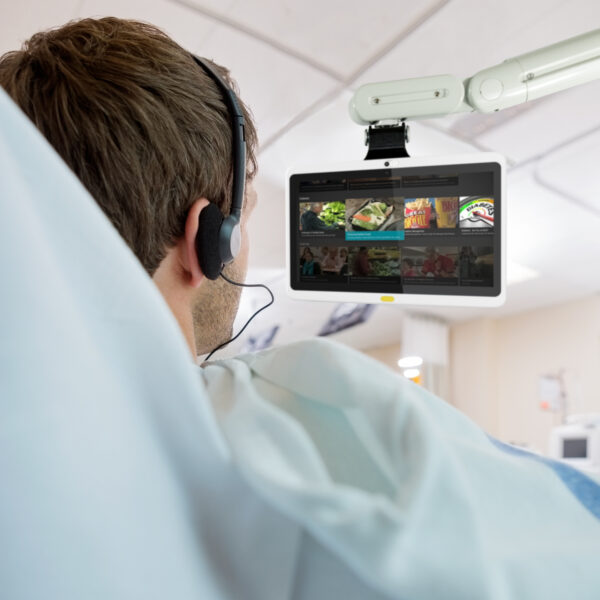 HCI, Bedside tablet, Interactive tablet, interactive TV, interactive patient tv, digital whiteboard, hospital digital whiteboard, hospital electronic whiteboard, hospital patient whiteboard, interactive patient care