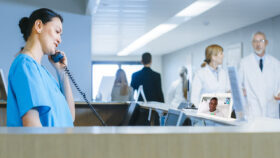 CleanCall and Nurse Call Companion offer patient-Care Team video communication at a touch to the device screen.