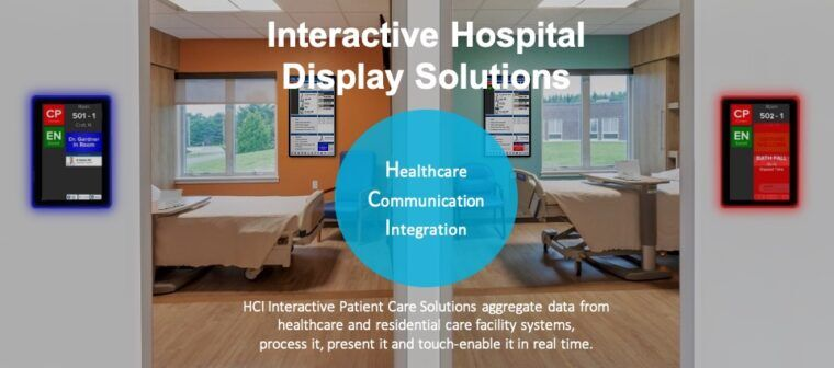 HCI Interactive Patient Care for Patient Education, Patient Entertainment and Patient Engagement. Optimizing healthcare workflows through real-time interactive hospital whiteboard and tablet displays integrated across the hospital enterprise.