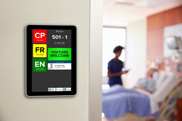HCI interactive electronic whiteboards support nursing staff by automating a range of rounding and care tasks.