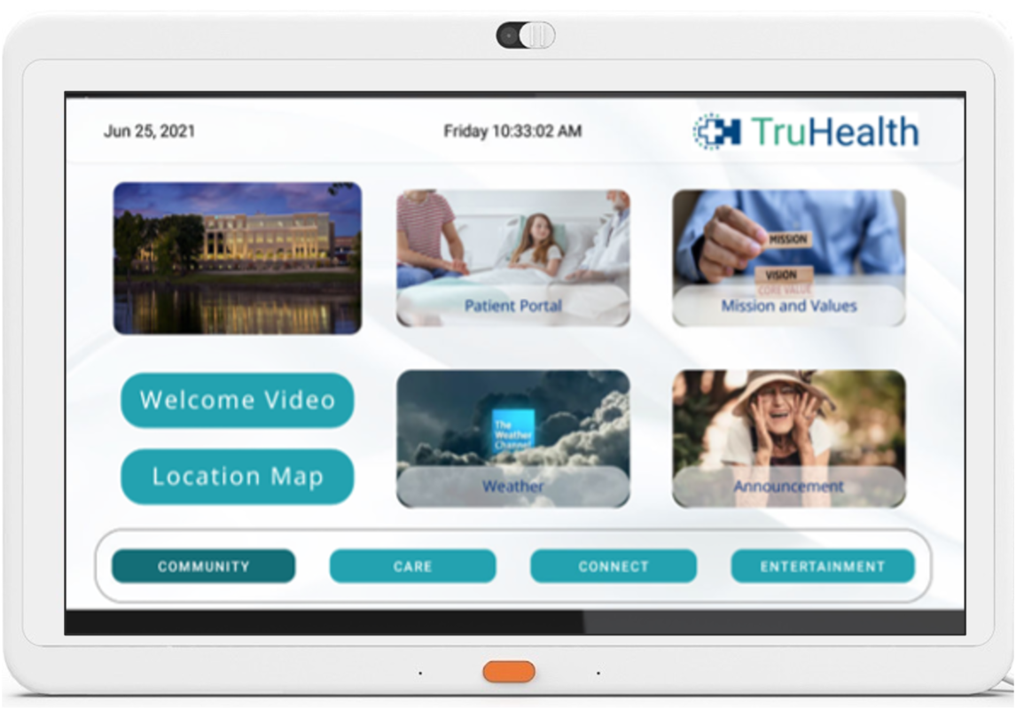 HCI BedMate Tablet TVs combine convenience, functionality and interactive, touch screen capabilities for patients and staff.