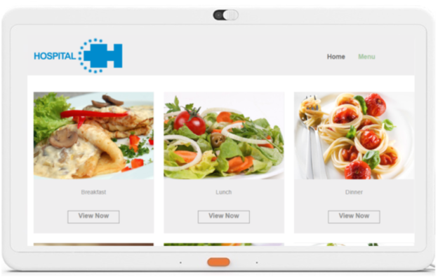 Bedside Meal Ordering through MediaCare offers higher patient satisfaction through patient engagement with automated fulfillment apps.