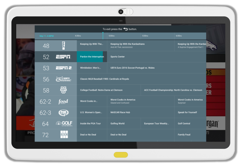 Patients have choice using HCI's Interactive Channel Guide through MediaCare