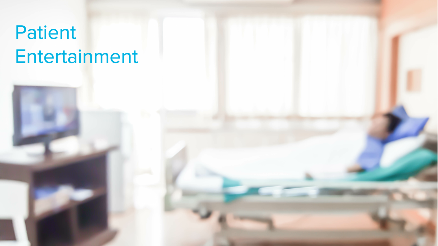 Patent Entertainment from HCI provides a home-like experience for patients.