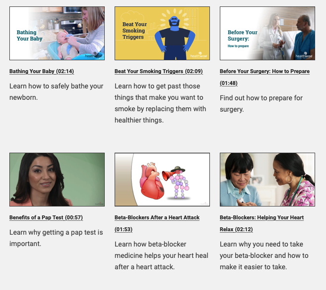 Patient Education from HCI provides patients a wide range of content to support their recovery and health literacy.