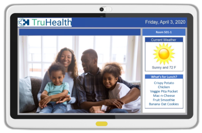 Family and Friends Interactive Module offers direct videoconferencing for multiple locations to keep patients connected to loved ones.