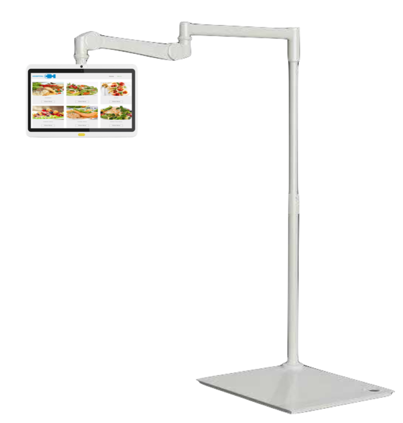 HCI Floor Mounted Articulating Outreach Arm for Patient Bedside Tablets and TVs