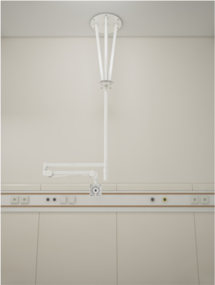 HCI Articulating Ceiling Arm Mount for Patient TV