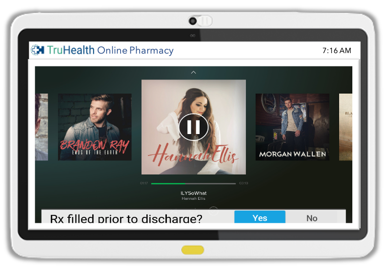 Push messaging in the form of banners and scrolling information helps patients with adherence to treatments and medications, and viewing educational content.