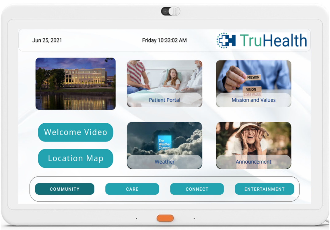 HCI MediaCare offers healthcare providers the opportunity to show welcome screens and branding to patient in-room TVs to extend branding and provide a home-like experience.