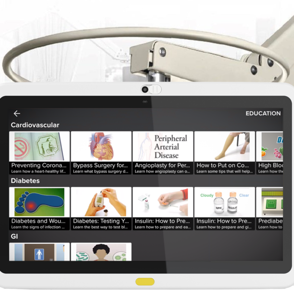 HCI's Classic Swing Arm is ideal for any healthcare setting to offer greater patient engagement.
