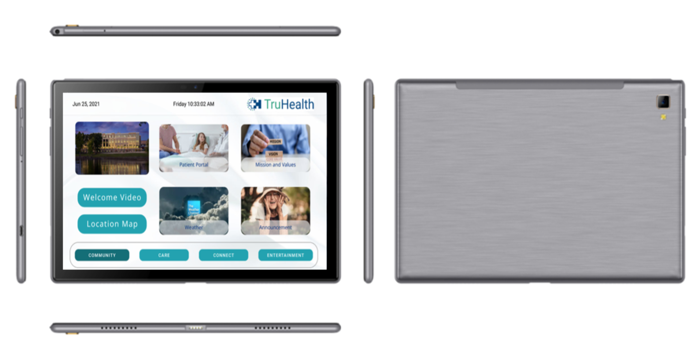 The HCI Portable Tablet operates through the cloud for a wide range of configurable apps to increase and enhance patient engagement in healthcare and residential settings. The Portable Tablet joins the HCI product line of hospital whiteboards, patient televisions and interactive devices for optimized workflows and better health literacy.