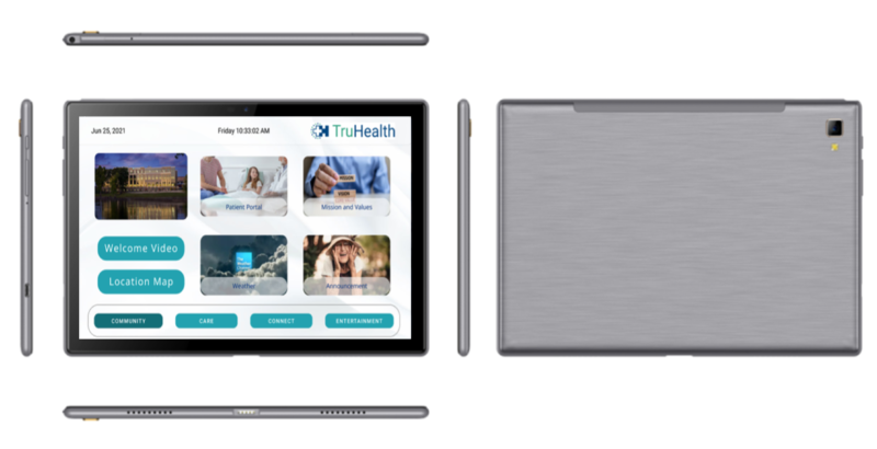 The HCI Portable Tablet has all the features of HCI hospital whiteboards, patient televisions and desktop whiteboards to offer patients the highest quality access to patient engagement and education information.