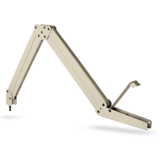 HCI Classic Healthcare Grade Swing Arms give patients a 360˚ range of motion for optimal viewing. Fully cleanable swing arm for hospital and infusion center patient TVs.